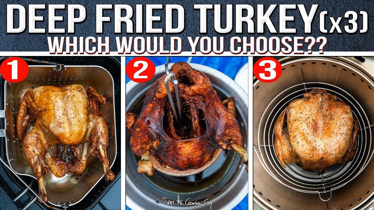 The Best Way to Deep Fry a Thanksgiving Turkey - We Tried them ALL! | SAM THE COOKING GUY 4K