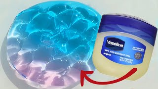 ASMR NO GLUE TOOTHPASTE VASELINE SLIME How to make Jiggly Slime with Colgate Toothpaste