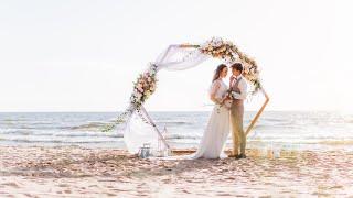 Romantic elopement wedding photoshoot