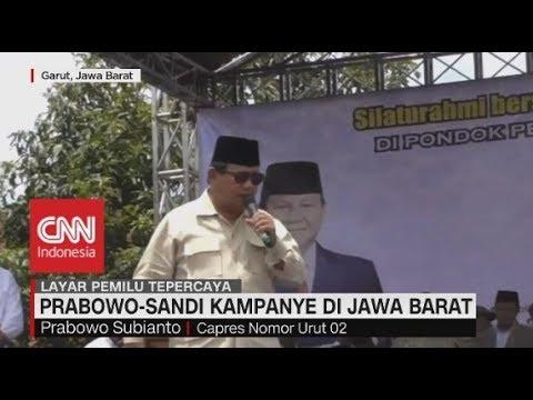 Prabowo-Sandi Kampanye Di Jawa Barat