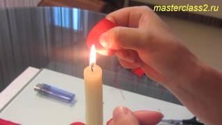 Цветы из ткани. Роза из ткани мастер класс (handmade)(Бесплатно - 15 видео мастер-классов по созданию цветов из ткани. Посмотрите на сайте: http://master.masterclass2.ru/ Мастер..., 2013-08-26T09:48:08.000Z)