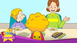 [Invitation] Help yourself. May I have some more? (At the table) - Easy Dialogue for Kids