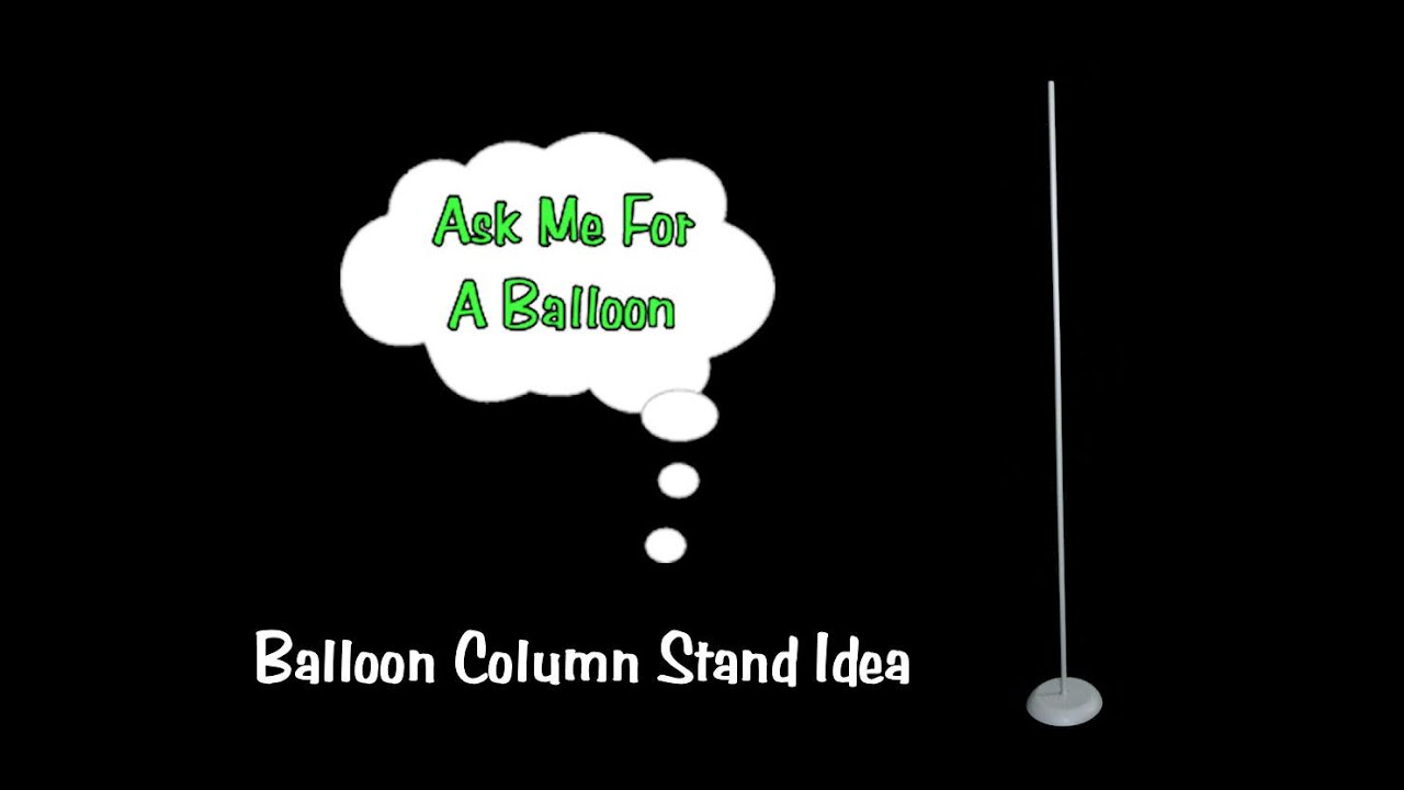 how to make balloon column stand