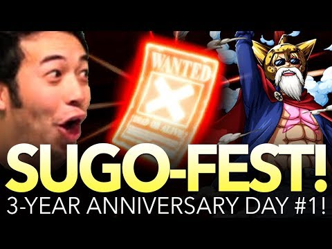 300-GEM 3 YEAR ANNIVERSARY SUGO-FEST! [DAY 1] CRAZY REACTIONS! (One Piece Treasure Cruise - Global)