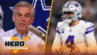 2 reasons Dak doesn't deserve $35M/year, Colin likes potential onside kick change   NFL   THE HERD