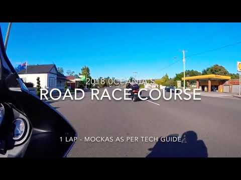 2018 Oceania's Road Race Course