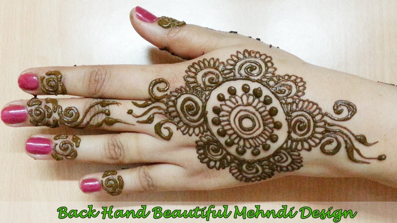 Flower Mehndi Designs For Back Hands : Best back hand mehndi designs floral design new