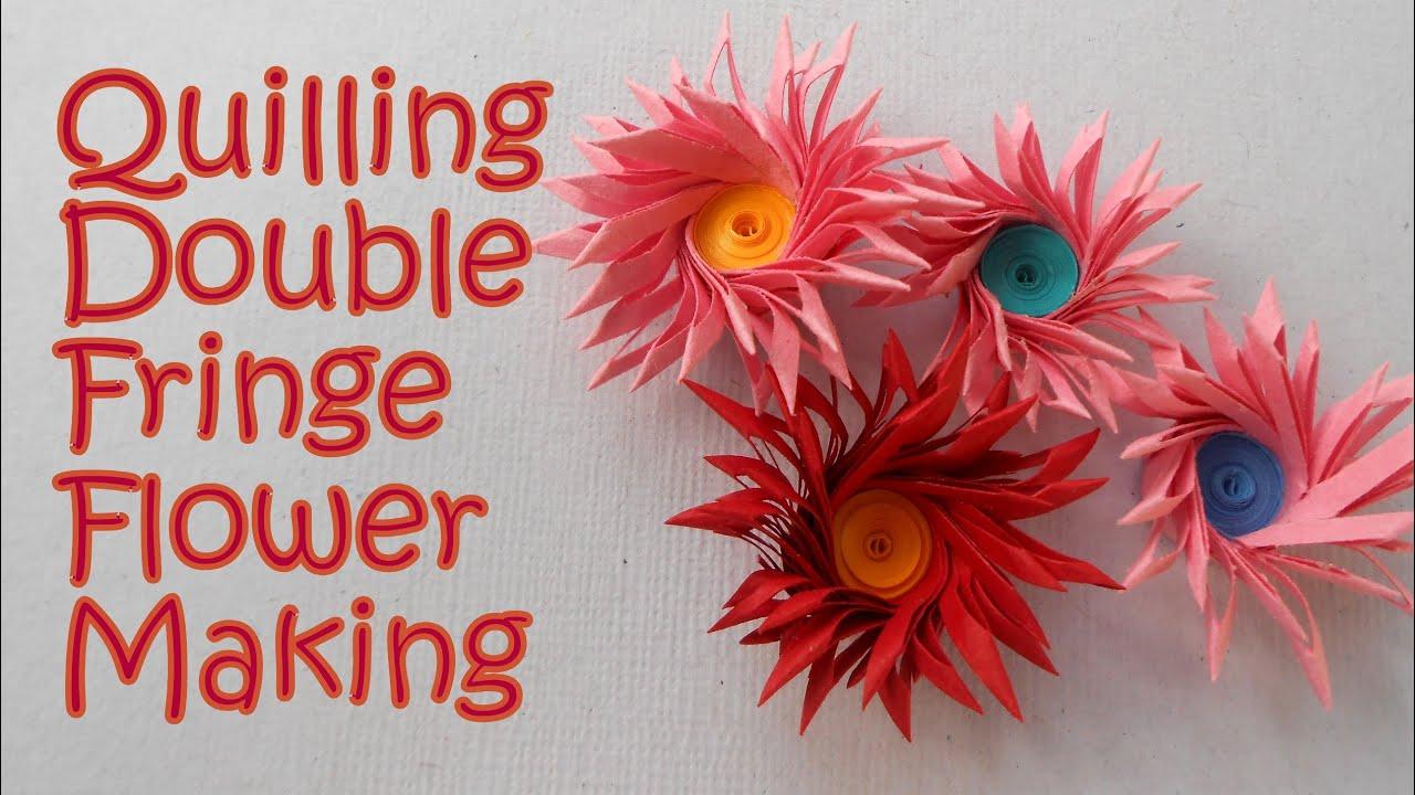 Cross double fringe quilling flower making tutorial youtube youtube premium mightylinksfo