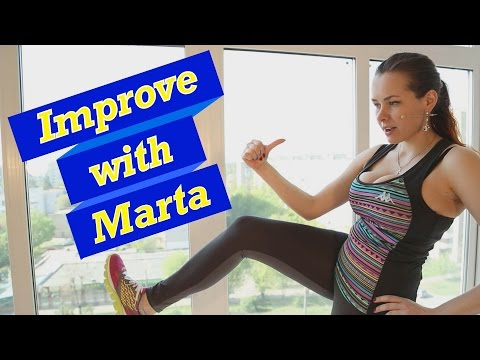 Lunge plus kick forward - Improve With Marta