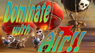 Dominate with Air! | Best TH9 Air Attack Strategies 2017 | TH9 3 Star Air Attack | Clash of Clans