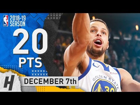 Stephen Curry Full Highlights Warriors Vs Bucks 2018.12.07 - 20 Pts, 8 Ast, 4 Rebounds!