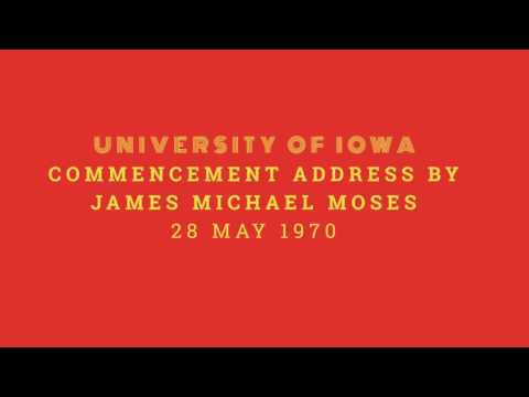 1970 University of Iowa Commencement Address