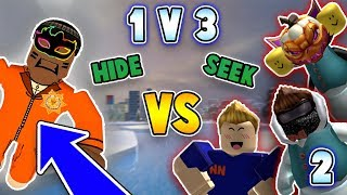 1v3 HIDE AND SEEK in ROBLOX JAILBREAK!!! *EPIC* (Part 2)