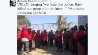 WATCH: Marikana abuzz as Malema lays criminal charges against Ramaphosa, Mthethwa & Phiyega