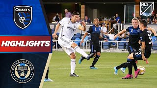 San Jose Earthquakes vs. Philadelphia Union | VAR Overturns Penalty! | HIGHLIGHTS