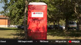 SEBACH - RADUNO SAN ROSSORE (PI) 30.000 persone, 1500 bagni mobili - 750 docce - 800 punti lavabi - 100 punti fontanelle