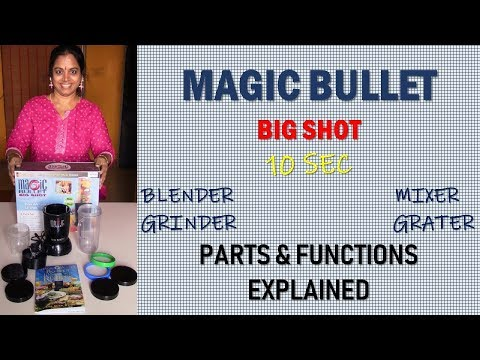 MAGIC BULLET BIG SHOT | BLENDER/CHOPPER/MIXER | Parts & Functions Explained