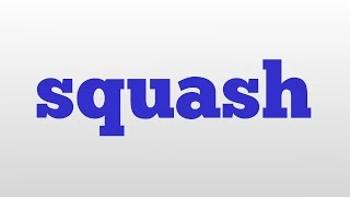 squash meaning and pronunciation