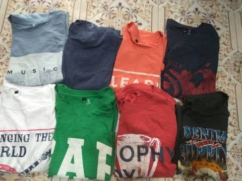 Branded T-shirts, Export Surplus, Best Market Rate, MOQ-50 pieces