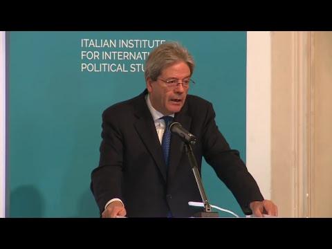 Il Presidente Gentiloni interviene alla consegna del Premio Ispi 2017