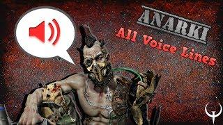 Anarki Voice Lines
