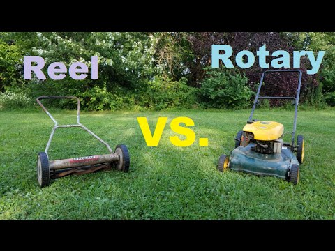 Reel Mower Vs Rotary Mower Which Is Better Youtube