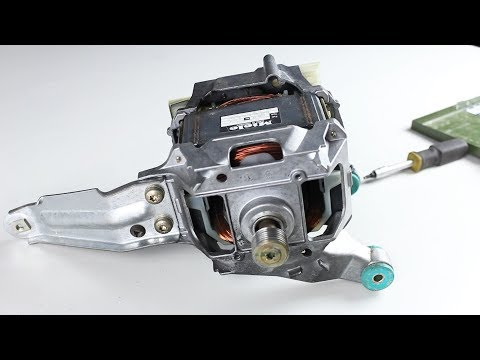 Inside a Washing Machine Motor: Explanation,  Pinout, Teardown AND Experiments