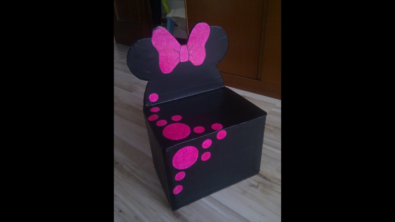 Tutorial 2 silla de minnie con cart n para ni os parte 2 for Papel para forrar madera