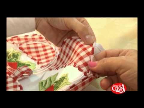 Aprenda a fazer um pano de prato bordado à maquina com Angélica Bonifácio.
