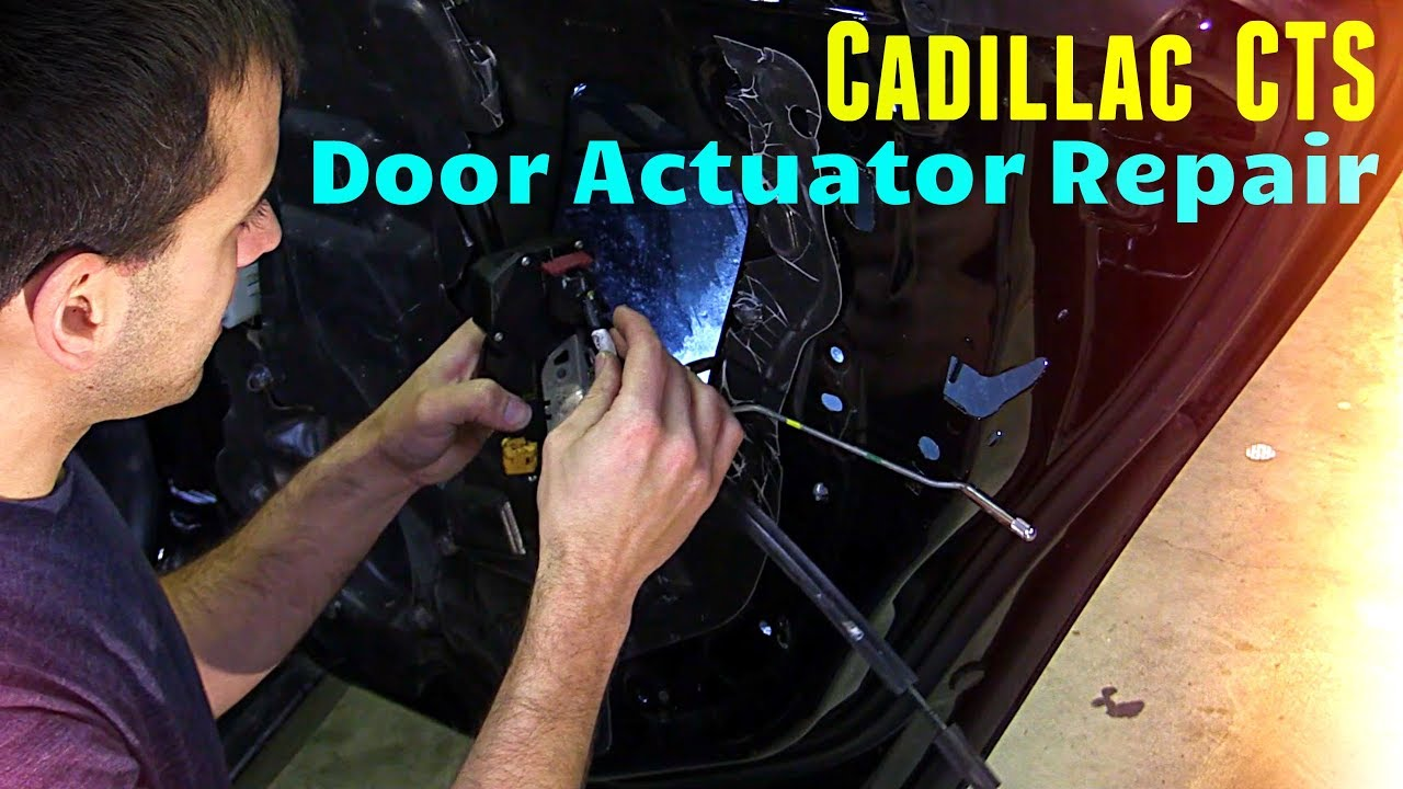 small resolution of 2008 2014 cadillac cts door actuator removal replacement guide
