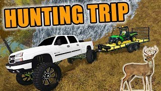 FARMING SIMULATOR 2017 + THE HUNTER | WE GOT A WHITETAIL & RED FOX! MULTIPLAYER HUNTING