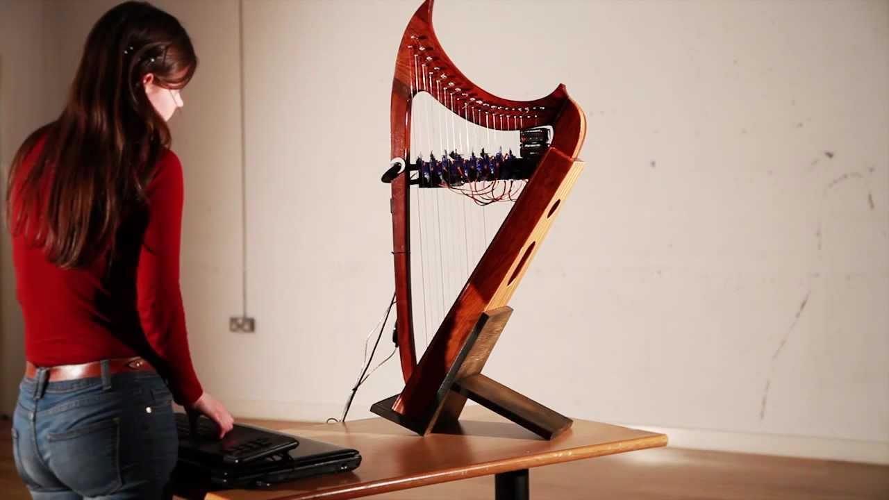 Servoharp arduino midi harp player installation