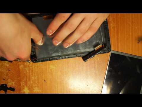 Разбит экран. Планшет IRBIS TZ70. Замена дисплея + разборка