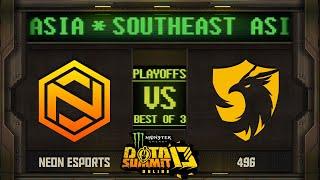 Neon vs 496 Game 2 - Monster Energy Dota Summit 13 Online SEA: Losers' Round 1 w/ MLP & johnxfire