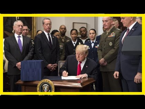 News Today : Trump signs $700b defense budget into law