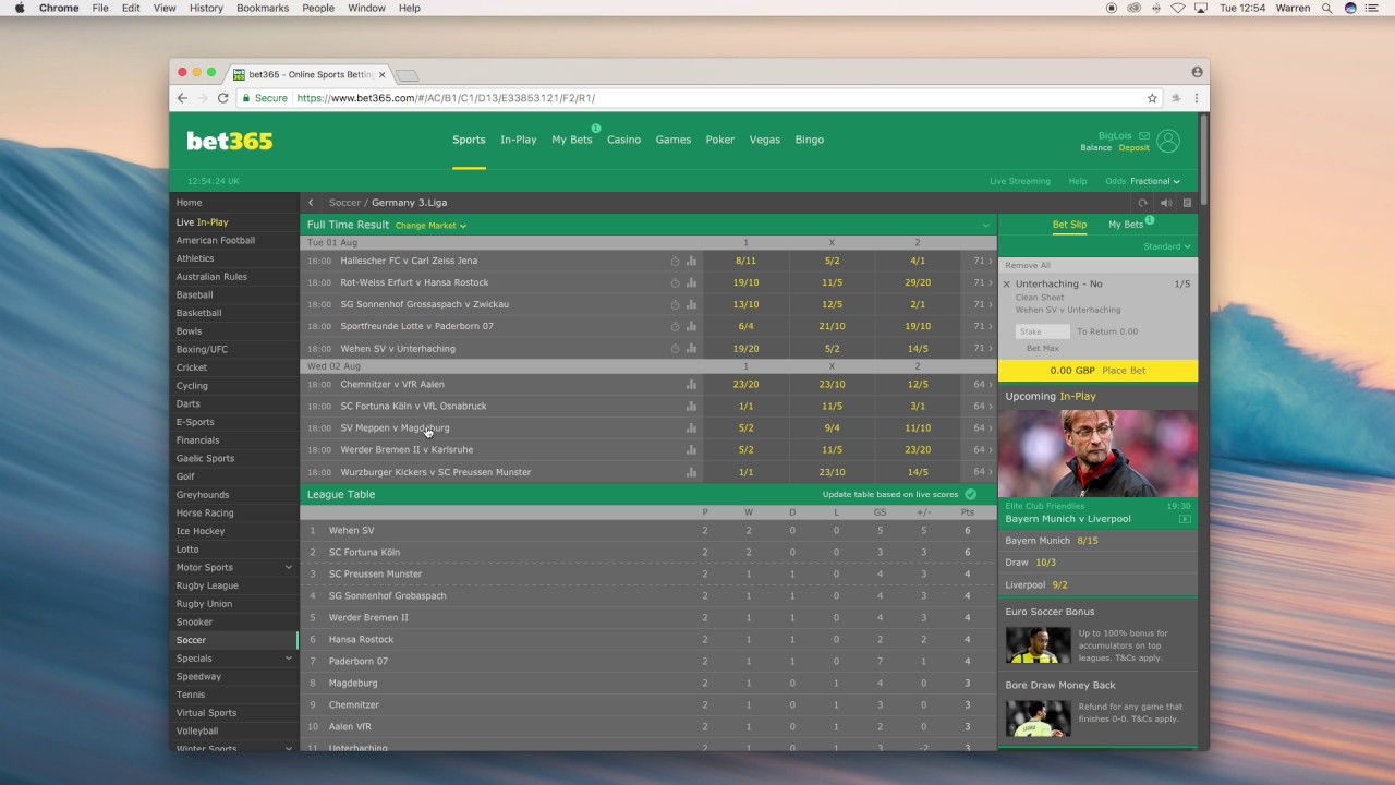How to bet no clean sheet on bet365 sports betting africa todays matches live