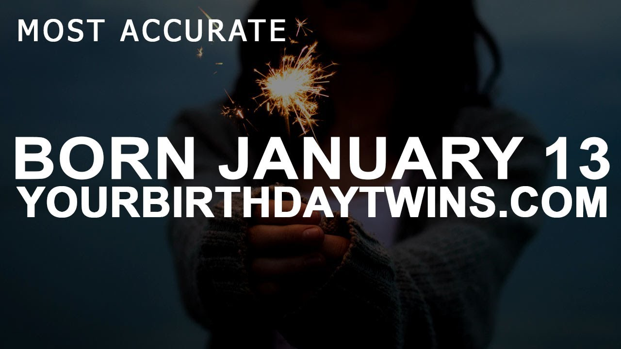 by date of birth 13 january numerology