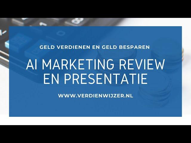 AI marketing review en presentatie: Geld verdienen met je eigen robot!