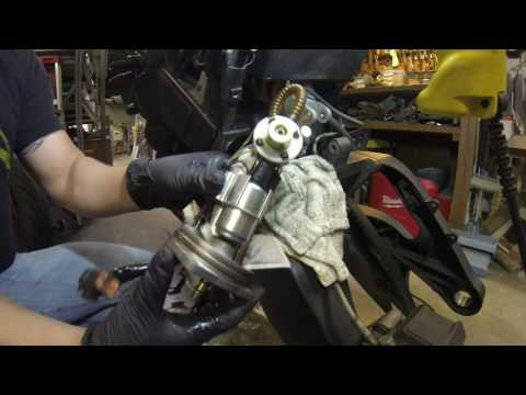 Buell XB Fuel Pump Assembly Removal & Fuel Regulator Replacement without removing the swingarm