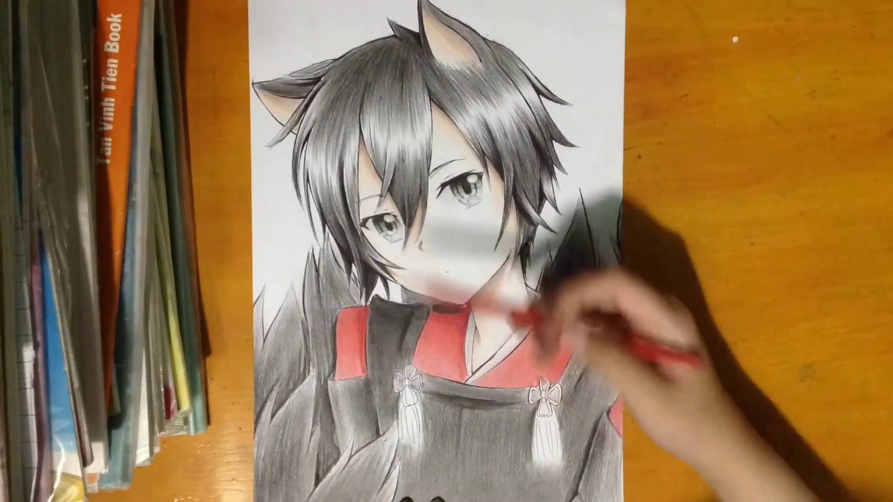 speed drawing   kirigaya kazuto