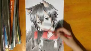 Speed Drawing : Kirigaya Kazuto   Kirito ( Sword Art Online )/ Tranh Vẽ Anime : Kirito ( SAO )