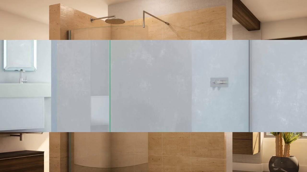 Walk in Shower Doors Glass Designs - YouTube