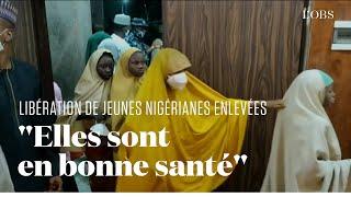 Les premières images des adolescentes nigérianes libérées après leur rapt il y a quatre jours