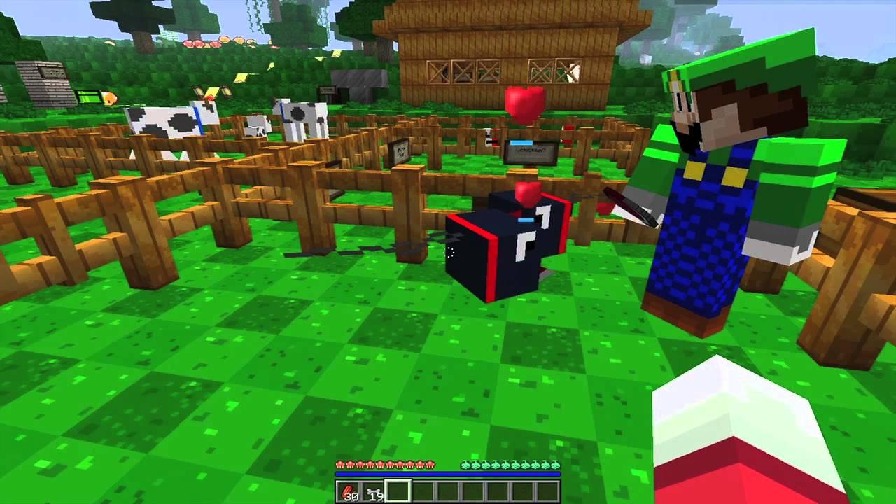 MoonLite plays Minecraft: Super Mario Texture Pack Part 1 - YouTube