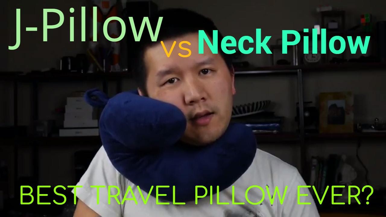 the j pillow best travel pillow ever vs regular inflatable pillow