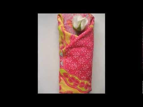 Furoshiki: Envolver regalos con tela / Gift wrapping using cloth