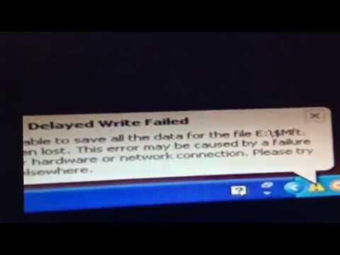 windows delayed write failed (error)