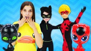 Куклы Супер-Кот иЛеди Баг поменялись костюмами— Адриан женится? Маринетт плачет! Шоу ToyClub