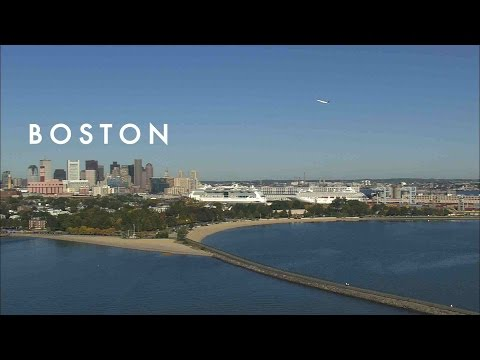 City of Boston, Massachusetts from Above in High Definition (HD)