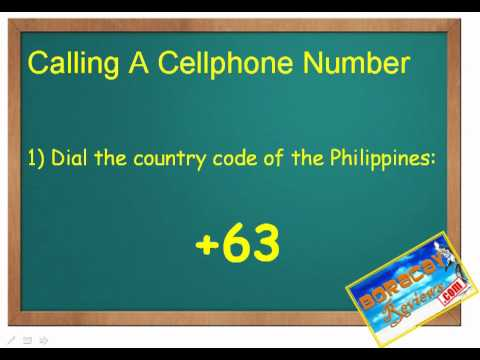 How to Make A Call To Boracay Island, Philippines